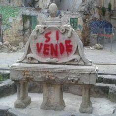 Offerte di lavoro Palermo  Un costo di 46 mila euro. Fu imbrattata dalla scritta di un artista  #annuncio #pagato #jobs #Italia #Sicilia Via al restauro della fontana di piazza Garraffello