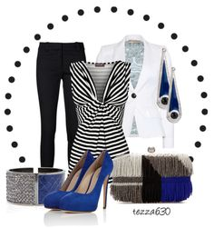 """""""Cobalt Nights"""" by tezza630 ❤ liked on Polyvore"""