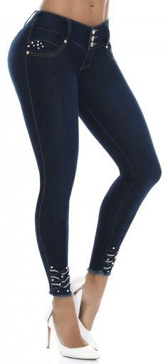 Jeans levanta cola WOW 86404 Azul