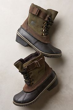 sorel winter fancy lace II boots - stylish and warm boots! #anthrofave