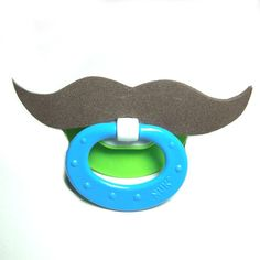 Brown Mustache pacifier 0 to 6 months by babestograndmas on Etsy, $8.00