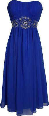 Royal blue prom dress - junior plus size graduation dresses