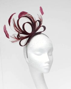 BURGUNDY Fascinator Hat for weddings/ascot/proms   eBay