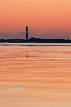 Fire Island Lighthouse at dawn, Captree State Park, Long Island, New York