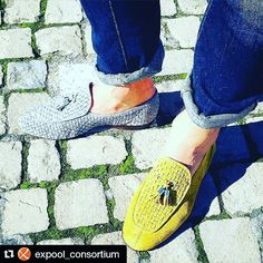 We start to deliver our summer shoes.... #Repost @expool_consortium with @repostapp  Yellow or grey? That is the question for @adix84 wearing #mauron1959 #shoes // #SeeWhatYouWearTour #mauron by mauron1959