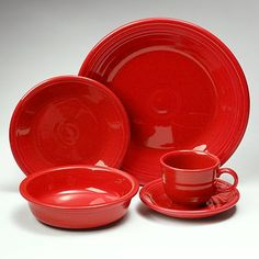 My great-grandparents used Fiesta dishes... now all these years later, I have the same styles in my kitchen!
