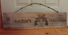 "Archie's ""Man Cave"" Pyrography -Wood Burning by Alice Holcomb"