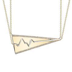 Pave Diamond Best Friend Heartbeat Necklace – SMITH + MARA