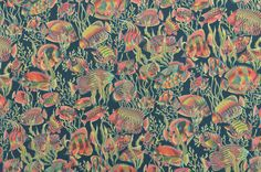 Cotton Quilting Fabric Fish Fabric Rust and by www.TheFabricScore.com
