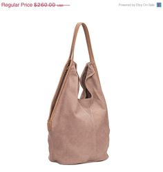 Charley Bag Soft leather bag Dusty pink leather by LadyBirdesign
