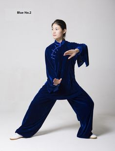 Winter Tai Chi clothing, high lever gold velvet fabric , un-sex style, with handmade button
