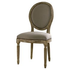 Bring classic style to your foyer or dining room with this timeless side chair, featuring fluted detailing and nailhead trim  Produc...