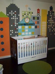 nursery with cityscape