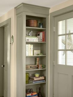 Built-in shelving and crown molding give this kitchen a finished look. | Photo: Tria Giovan | thisoldhouse.com