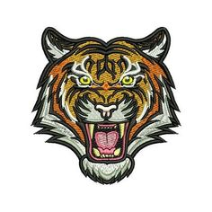 Embroidery design Tiger face Diseños para bordado Tigre rostro Ponchado, Picaje, Matriz para bordado #embroidery #tiger #bordado