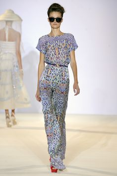 Temperley London, Spring Summer '13, Leopard Tile Top and Leopard Tile Trousers