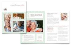 Senior Care Services Brochure Template Design by StockLayouts
