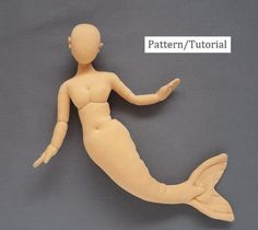 15 inch Mermaid Mannequin Cloth Doll Pattern