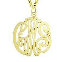 Now available as a gift box offer. gold vermeil monogram necklace