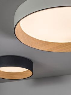 Lampen Duo ceiling lamp by Vibia Hallway Lighting, Flush Lighting, Flush Ceiling Lights, Ceiling Decor, Ceiling Light Fixtures, Bedroom Lighting, Interior Lighting, Lighting Design, Living Room Lighting Ceiling