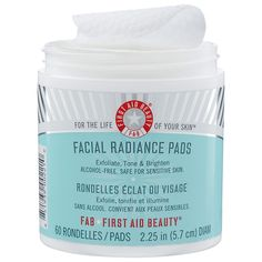 First Aid Beauty Facial Radiance Pads - not too harsh yet still effective for my sensitive skin. Highly recommend FAB!