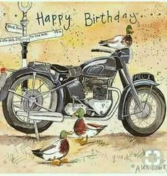 Happy Birthday to Sue's nephew, Jim! Happy Birthday Man, Happy Birthday Greeting Card, Happy Birthday Messages, Happy Birthday Quotes, Happy Birthday Images, Birthday Pictures, Birthday Fun, Motorcycle Birthday, Birthday Blessings