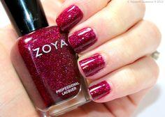 Zoya polish in blaze. Perfect polish for the holidays!