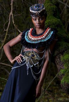Anita Quansah London: Her pieces are strong statements, which are a fusion of modern bohemian tribal mixed with her cultural background which is African.http://anitaquansahlondon.com/