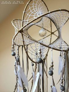 "NEW! Crystal Prism - Atom DreamCatcher + SunCatcher | Celestia Collection | 9""Dia | features turkey feathers, hemp twine and crystal beads #atom #dreamcatcher"