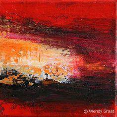Afterglow-4, 2 luik 20x20 cm te koop via www.wendygraat.nl