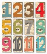 On The Clock Numbers - set of 12