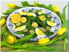 Tuscan spinach and egg salad