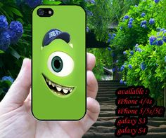 Monster University, Mike 4/4s,5/5s/5c, Samsung Galaxy s3/s4 Case