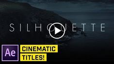 Clean Cinematic Titles in After Effects CC http://videotutorials411.com/clean-cinematic-titles-in-after-effects-cc/ #Photoshop #adobe #lightroom #graphicdesign #photography