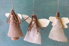 Earth Angel Ornaments are non-traditional and interesting. Use this quick and easy angel craft tutorial to make some rustic new handmade Christmas ornaments that can be fashioned into a garland, decoration, and many other things.