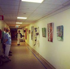 Sharing my art at my local hospital this Christmas! #konst #taide #utställning #ekenäs #sjukhus #art #tammisaari #finland #raseborg #konstnär #instalike #instaart #paintings #hospital #christmas