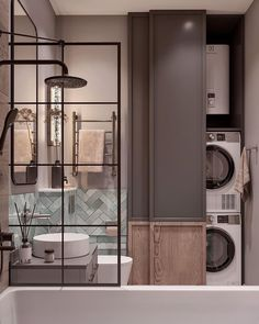 Best Bathroom Designs, Bathroom Interior Design, Interior Decorating, Laundry Room Storage, Locker Storage, Home Entrance Decor, Home Decor, Amazing Bathrooms, Bathroom Inspiration