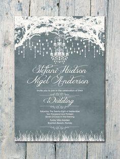 Royal Winter Garden Wedding Invitation and Reply Card Set - Wedding Stationery