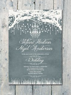 Royal Winter Garden Wedding Invitation and Reply Card Set - Wedding Stationery