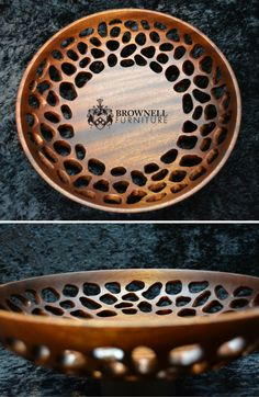 """Amoeba Bowl:  A trial by fire in turning an ornamental bowl with carved free form holes. Pleased with the results considering this is my first attempt. Influenced by the organic and biologically inspired work of @neilturnerartisan and @markdoolittlestudio  Sapele 11"""" diameter 2.5"""" deep. #woodturning #woodworking"""