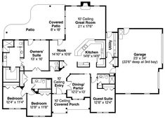 1000 images about home plans on pinterest courtyard for Rear entry garage house plans