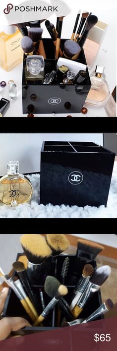 Chanel 4 Grid Beauty Box Comes brand new in white Chanel gift box. Perfect for holding makeup, brushes, office supplies, just about anything. Looks great on a desk! Measures approx 5L x 5W x 4.25H CHANEL Makeup Brushes & Tools
