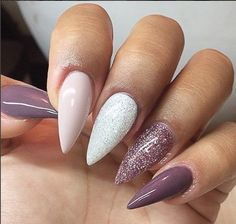 Purple, Pink Tutu, Diamond, Pink Platinum Source by giniluca Gorgeous Nails, Love Nails, Pink Nails, Glitter Nails, My Nails, Coffin Nails Long, Stiletto Nails, Acrylic Nail Designs, Acrylic Nails
