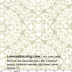 Laminated cotton aka oilcloth fabric Vintage Ironwork by Laminates, $15.98