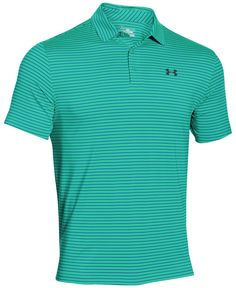 Play to win in this striped polo from Under Armour that features signature HeatGear technology to keep you cool, comfortable and dry. | Polyester/elastane | Machine washable | Imported | Worn by Jorda