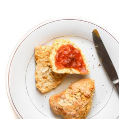 Pumpkin Butter Scones with Chia Seeds