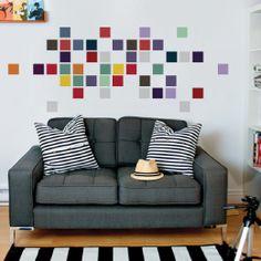 Adesivo de Parede Color Squares