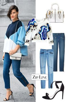 Go for zipper details for some extra edge: