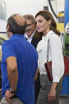 Queen Letizia attends the opening of vocational training course 2017/2018 at the Segundo de Chomon Secondary School in Teruel. 27 September 2017