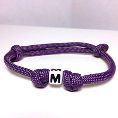 Too cute for kids! Paracord White Letter Adjustable Bracelet by JoshsSexyStraps, $4.00